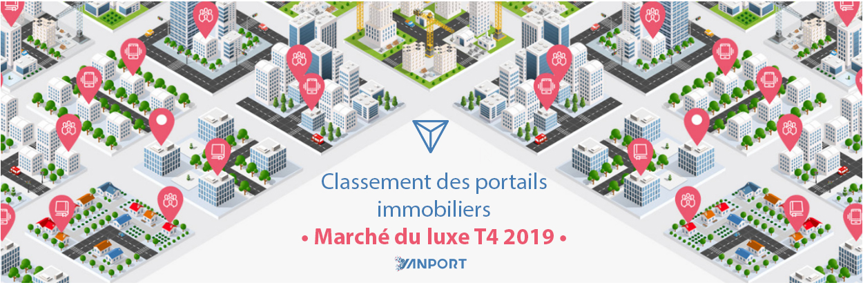 Classement des portails immobiliers • Marché du luxe à la vente • Yanport T4 2019
