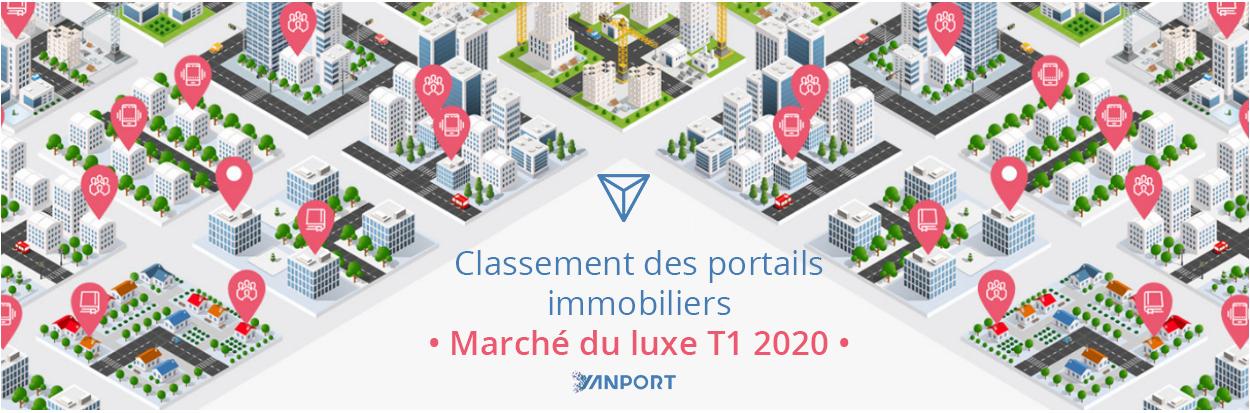 Classement des portails immobiliers • Marché du luxe à la vente • Yanport T1 2020