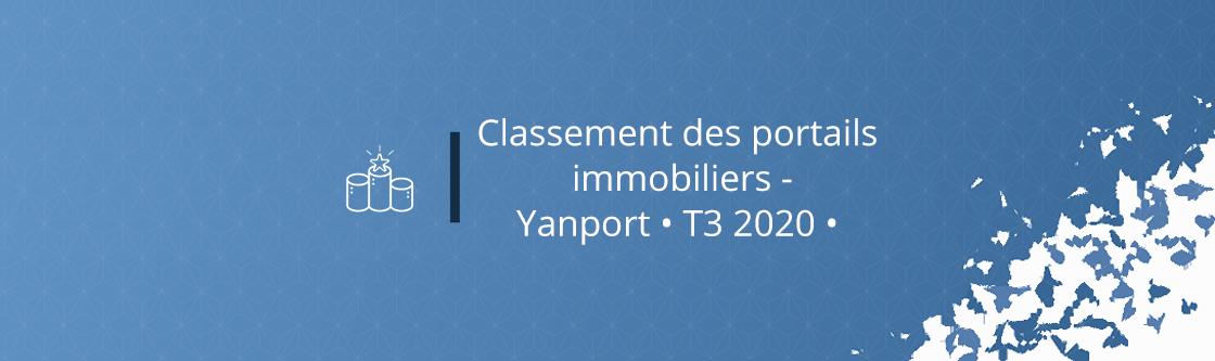 Classement des portails immobiliers - Yanport • T3 2020 •