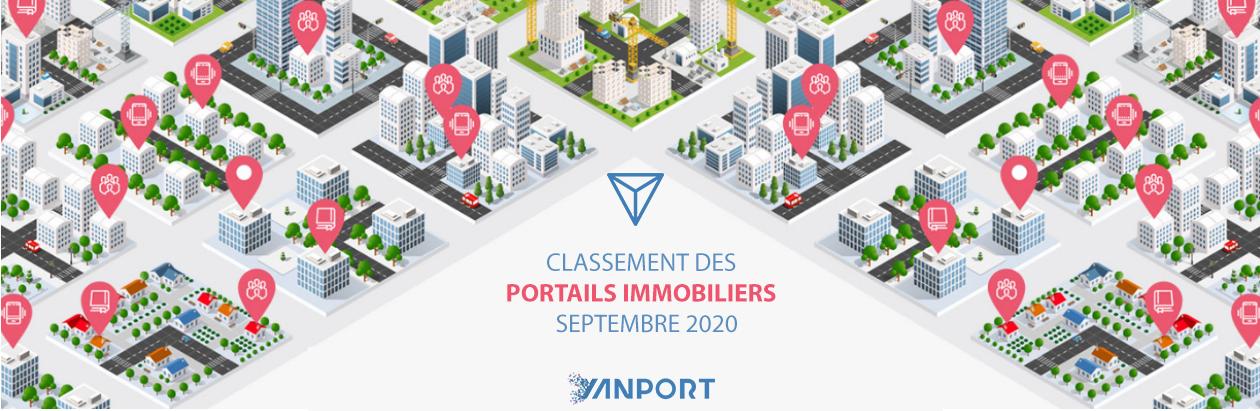 Classement des portails immobiliers - Yanport Septembre 2020