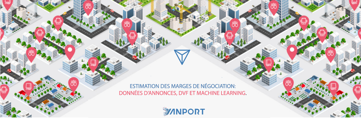 Estimation des marges de négociation: données d'annonces, DVF et machine learning