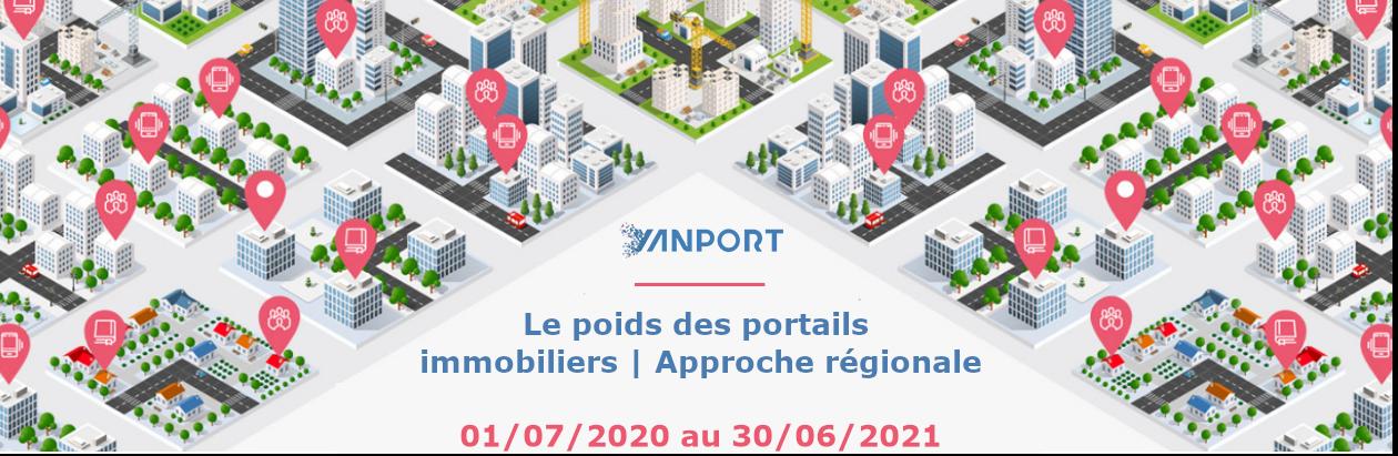 Le poids des portails au niveau des régions au 30 juin 2021 (Vente)