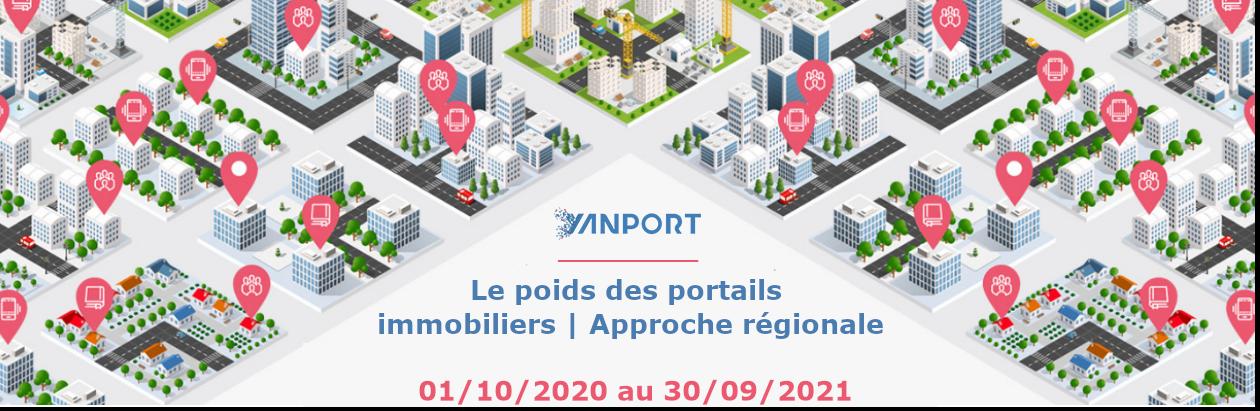 Le poids des portails au niveau des régions au 30 septembre 2021 (Vente)