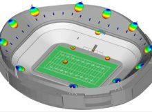 Interferência de rádio frequência (RFI) em estádios