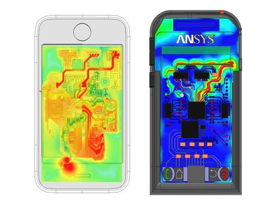 Campo elétrico em smartphones calculado pelo ANSYS HFSS