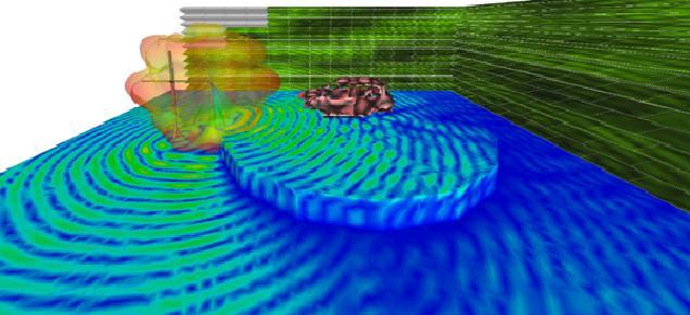 Teste virtual de imunidade radiada automotivo realizado pela FCA no ANSYS HFSS.