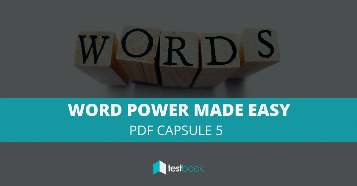 Word Power Made Easy PDF Capsule 5