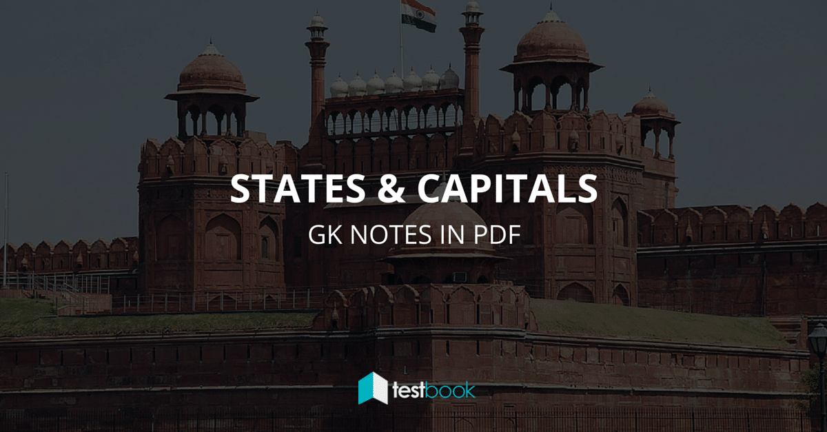 Indian States and Capitals - GK in PDF