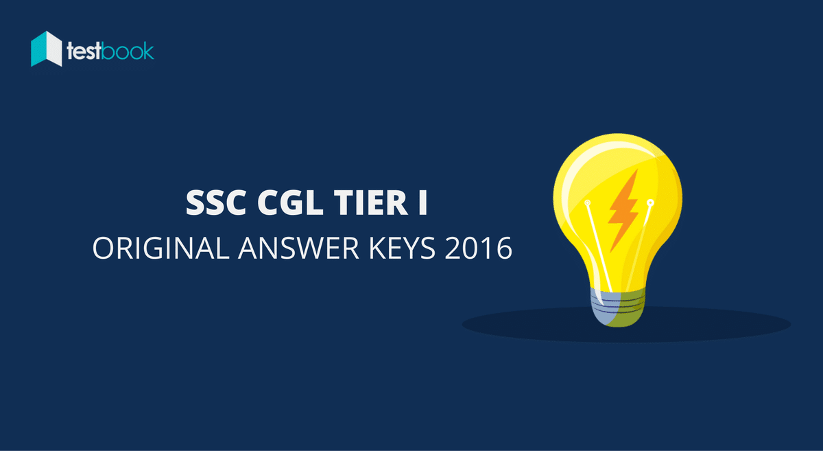 Official SSC CGL Answer Keys 2016