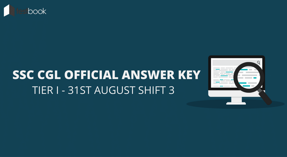 SSC CGL Official Answer Key 31st August Shift 3 - Tier I Exam