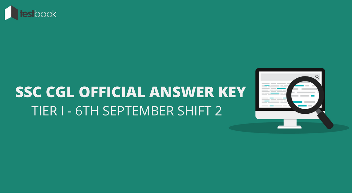 SSC CGL Official Answer Key 6th September Shift 2 - Tier I Exam