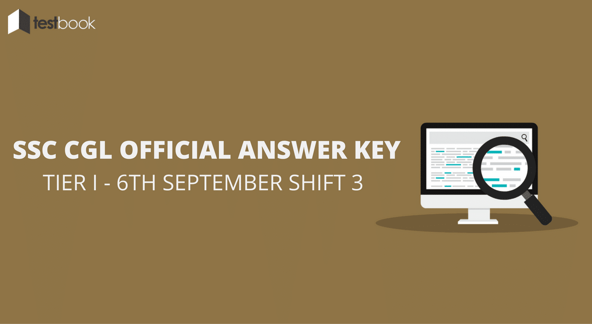 SSC CGL Official Answer Key 6th September Shift 3