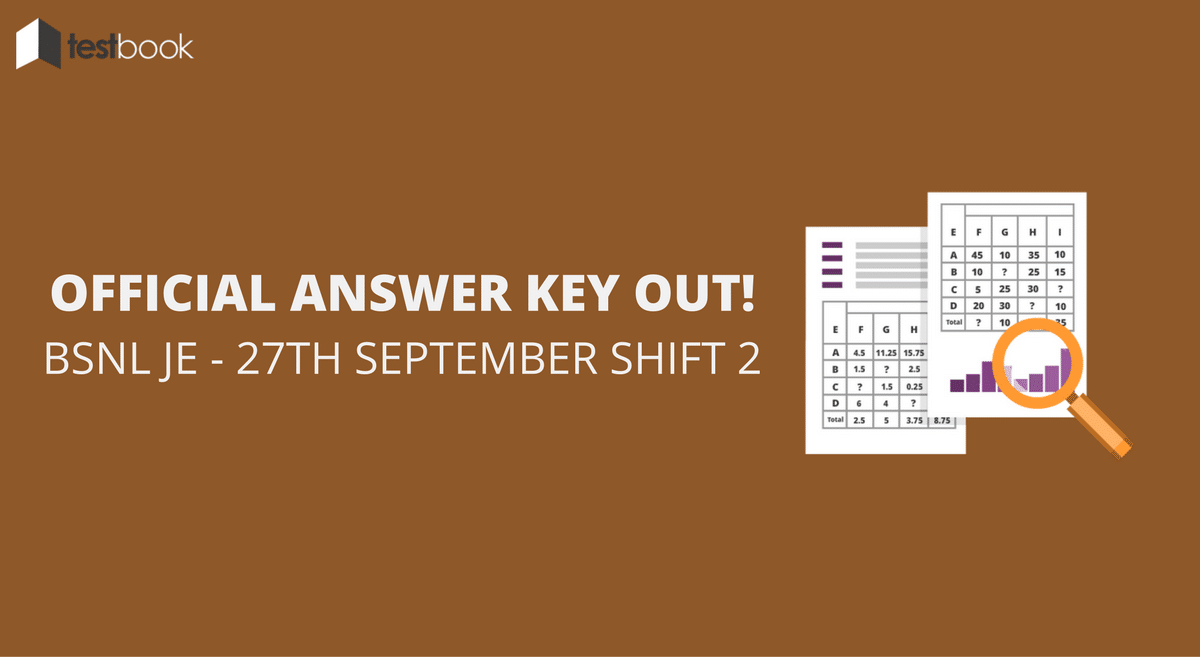 Official BSNL JE Answer Key 27th September Shift 2 Out!