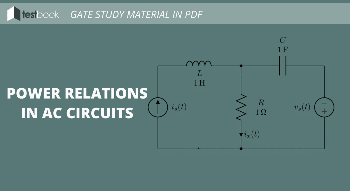 Power Relations in AC Circuits - GATE Study Material in PDF
