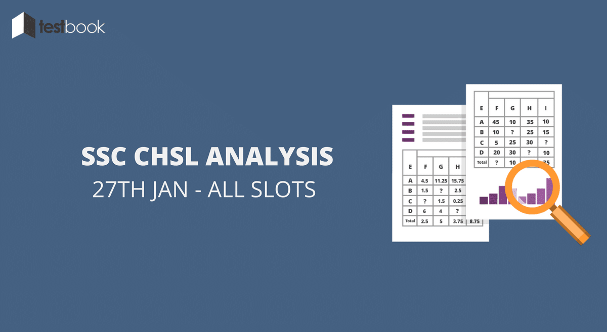 SSC CHSL Analysis 27th January 2017 - Tier I (All Slots)