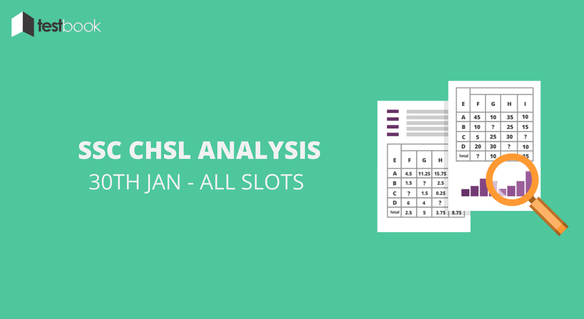 SSC CHSL Analysis 30th January 2017 - Tier I (All Slots)