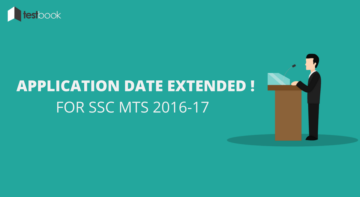SSC MTS Application Date Extended !!