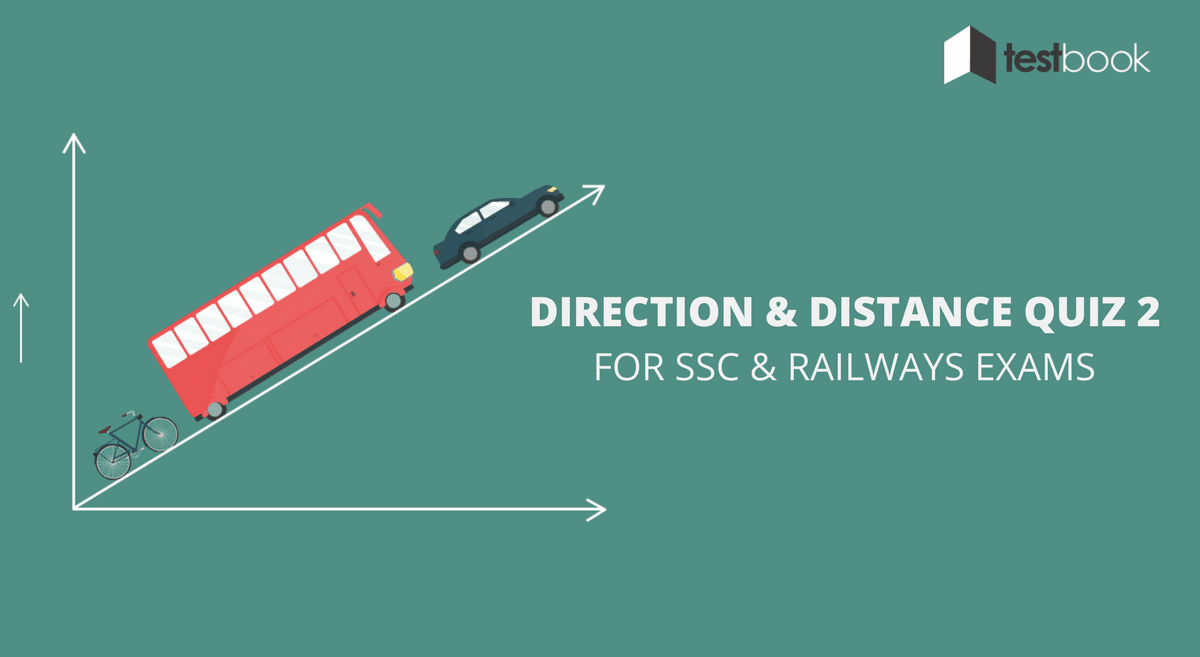 Direction and Distance Quiz 2 for SSC and Railways Exams