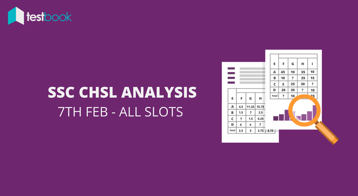 SSC CHSL Analysis 7th February 2017 - Tier I (All Slots)