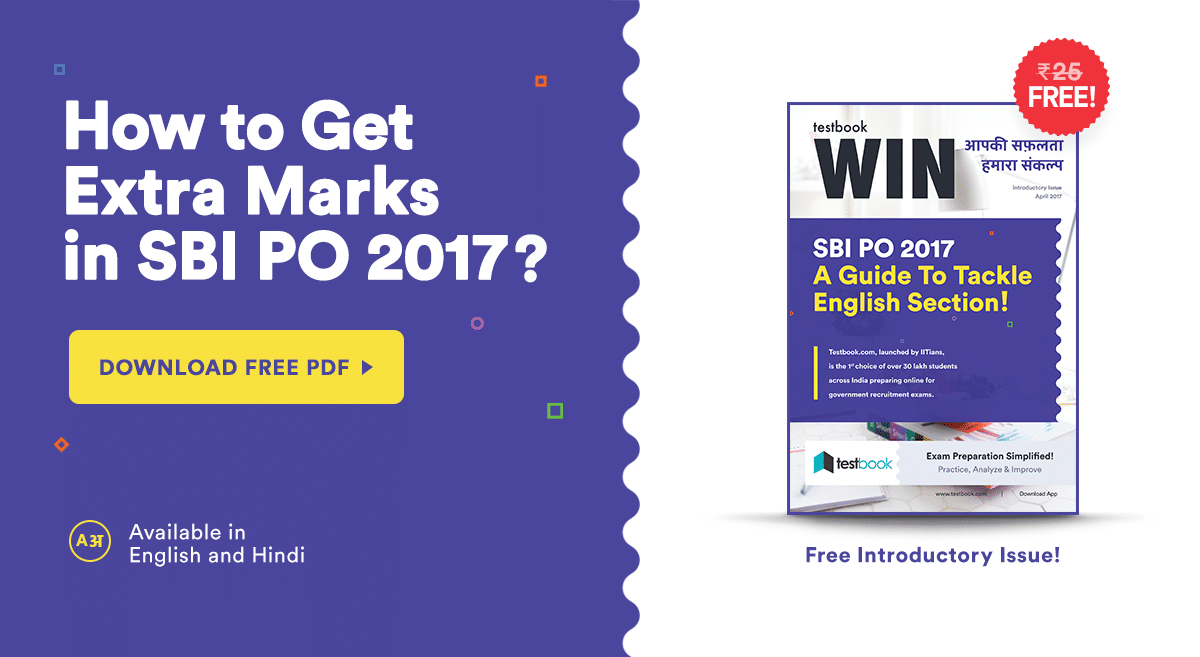 Testbook Win: Free Issue for SBI PO 2017 Preparation