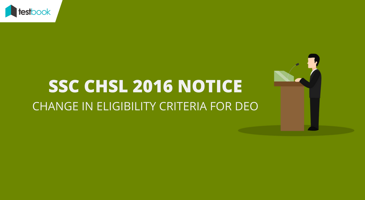 SSC CHSL Eligibility Notice