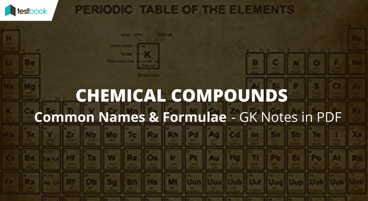 Common Names of Chemical Compounds and Formula SSC - GK Notes