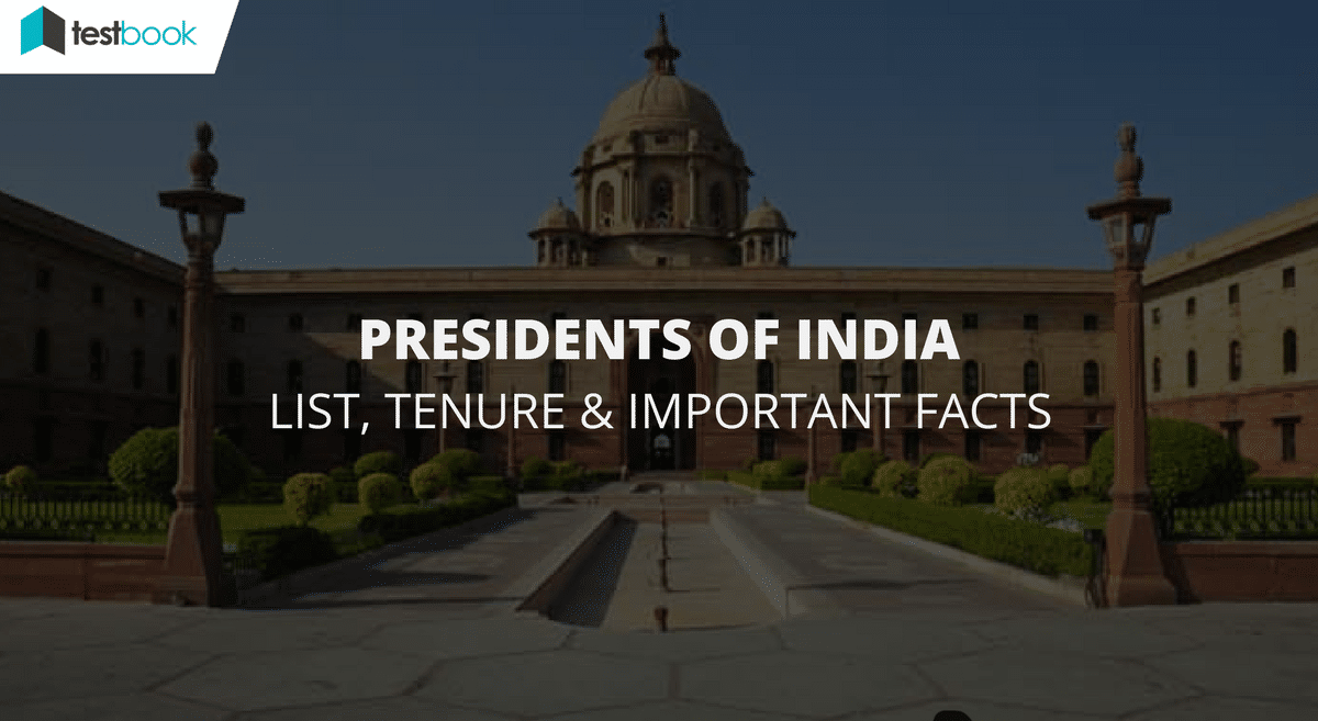 List of Presidents of India & their Tenure for SSC & Bank Exams - GK Notes in PDF