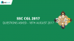 SSC CGL Questions Asked 18th August 2017 Tier I Exam (All Slots)