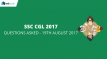 SSC CGL Questions Asked 19th August 2017 Tier I Exam (All Slots)