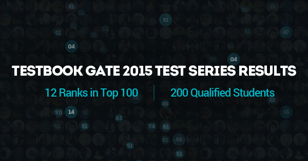 Testbook GATE 2015 Test Series Results