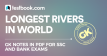 top 10 longest rivers in the world - Testbook