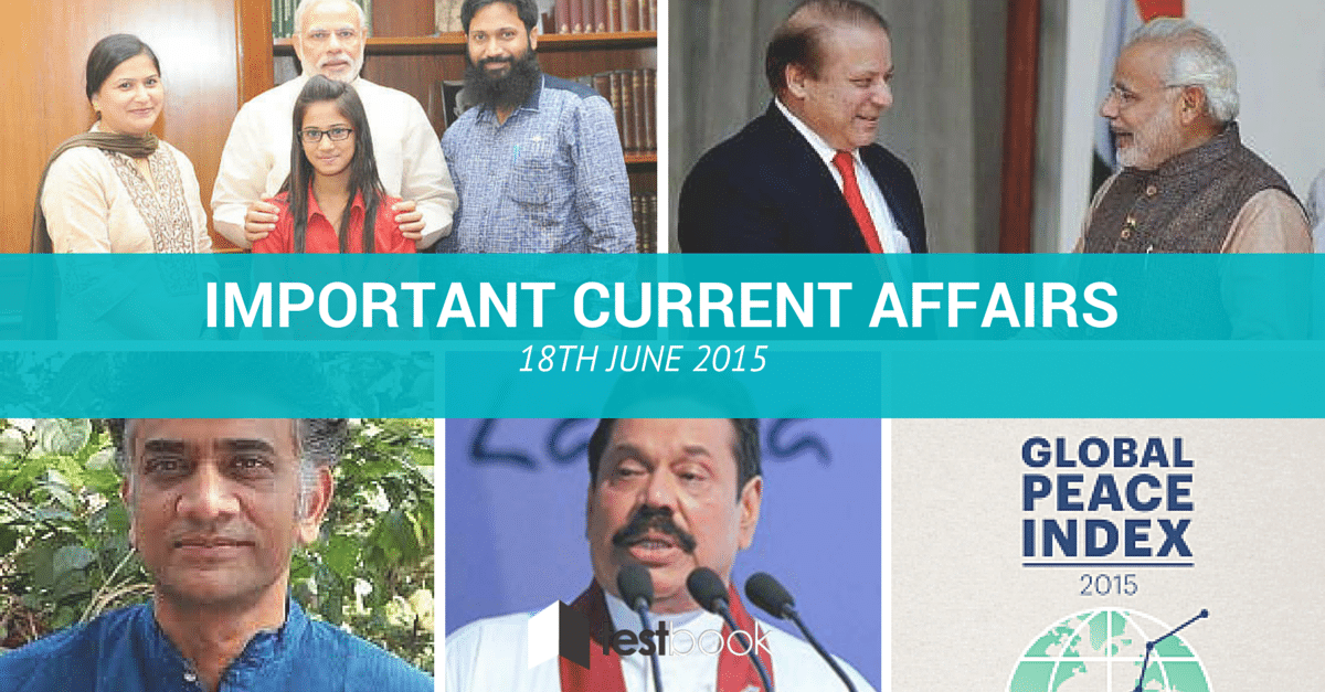 Important Current Affairs 18th June 2015