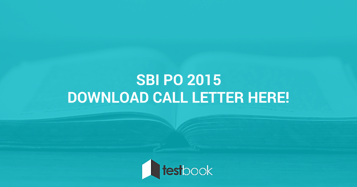 SBI PO 2015 Call letter download