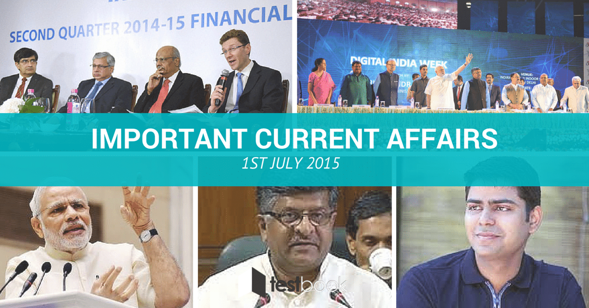 Important Current Affairs 1st July 2015