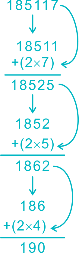 divisibility test for 19