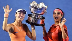Martina –Sania Wins Australia Open Doubles