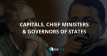 Capitals, Chief Ministers and Governors of States in PDF