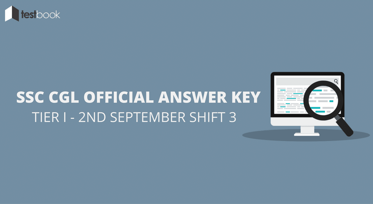 SSC CGL Official Answer Key 2nd September Shift 3 - Tier I Exam