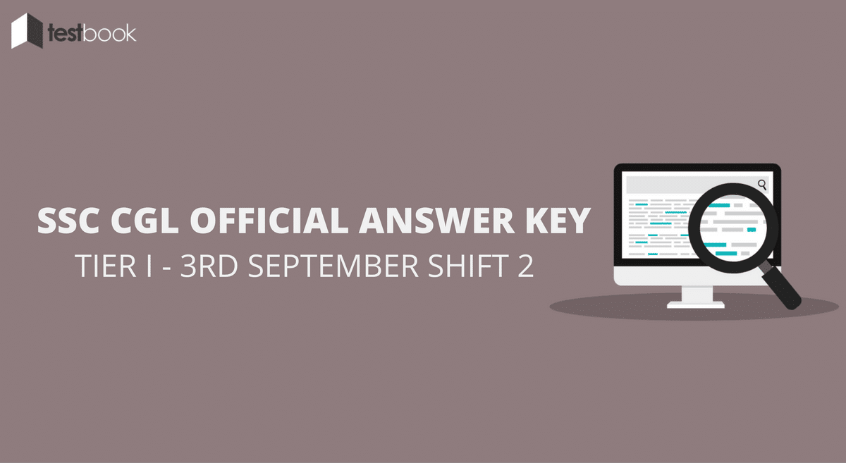 SSC CGL Official Answer Key 3rd September Shift 2 - Tier I Exam