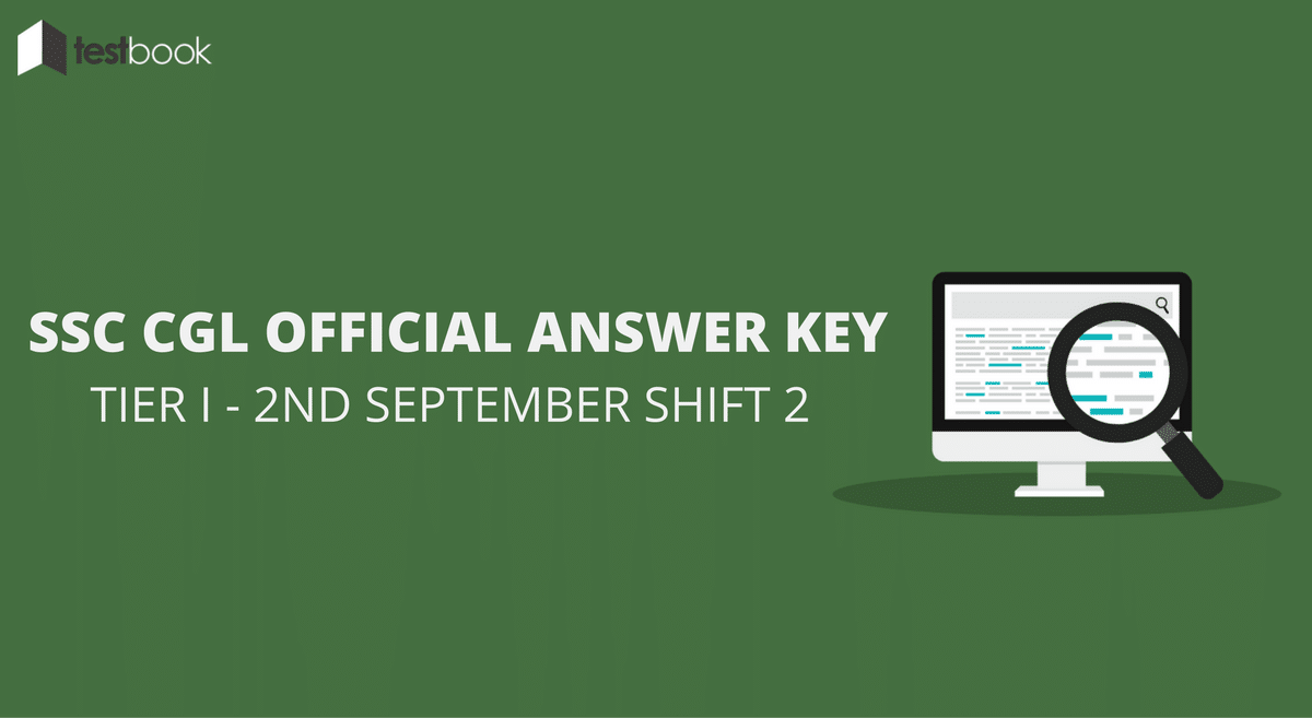 SSC CGL Official Answer Key 2nd September Shift 2 - Tier I Exam