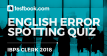 Error Spotting Quiz 8 for Banking - Testbook