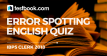 Error Spotting Quiz 15 for Banking - Testbook