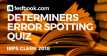 Error Spotting Quiz 9 for Banking - Testbook