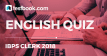 IBPS Clerk English Quiz - Testbook