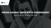Indira Gandhi Facts - Testbook