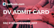 SSC Stenographer Admit Card - Testbook