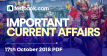 Current Affairs 17th October 2018 - Testbook