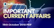 Current Affairs 19th October 2018 - Testbook