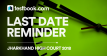 Last date reminder - Testbook