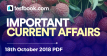 Current Affairs 18th October 2018 - Testbook
